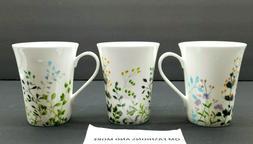 Mikasa ~ Bone China ~ Tivoli Garden ~ Set of 3 Coffee Mugs T