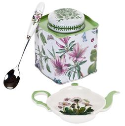 Botanic Garden 3 Piece Tea Set in Presentation Box Tin Caddy