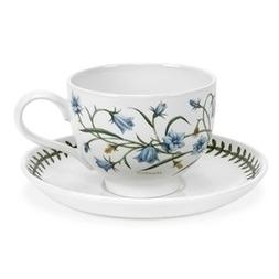 Portmeirion Botanic Garden Teacup And Saucer 2 7oz - Set of