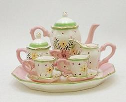 Bouquet Floral Design Porcelain Children's 10 pc. Tea Party