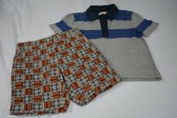 Tea Collection Boys Boutique NWT Outfit Set Shirt Polo Short
