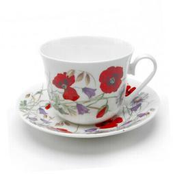 Roy Kirkham Breakfast Cup and Saucer English Meadow Tea Drin