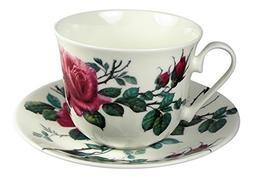 Roy Kirkham Breakfast Tea Cup and Saucer Set Fine Bone China