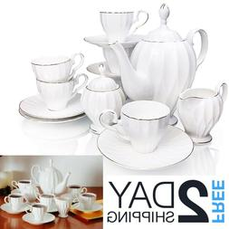 BTäT- Royal Tea Set, 6 Tea cups , Tea Pot , Creamer and Sug