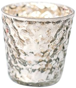Insideretail Bubble Mercury Glass Silver Tea Light Holders w