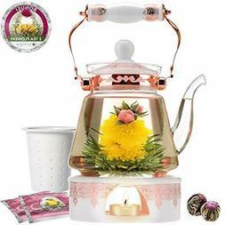 Buckingham Serveware Palace Teapot &amp Flowering Gift Set