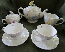 Lenox Butterfly Meadow 9-Piece Tea Set, Service For 2