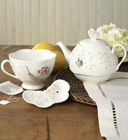 Butterfly Meadow Stack Tea Set with Tea Bag Holder