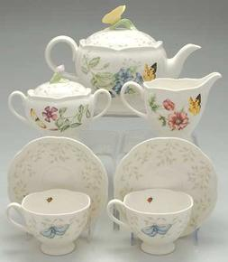 Lenox Butterfly Meadow 9 Pc Tea Set , Fine China Dinnerware