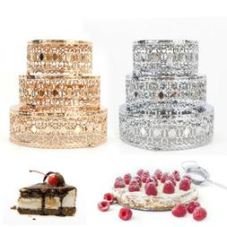 Cake Stand Set 3Pcs Dessert Tower Holder Metal Afternoon Tea