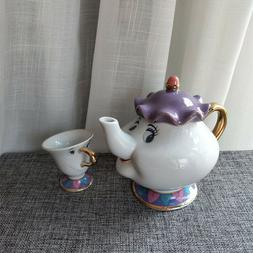 Cartoon Beauty And The Beast Tea Set Mrs Potts Teapot Chip P