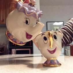Cartoon Beauty And The Beast Teapot Mug Mrs Potts Chip <font