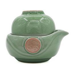 Vegali Celadon Pumpkin-Style Portable Gongfu Tea Set -100% H