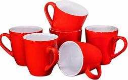 Bruntmor Ceramic Coffee Cups Mugs Set of 6 Large size Tea Co