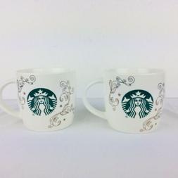 StarbucksCeramic Coffee Tea Mug Cup White Swirl Siren Mermai