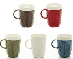 Ceramic Coffee & Tea Mugs  – Unique Sweater Texture Design