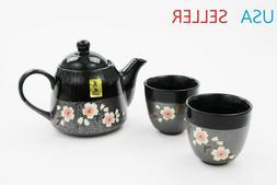 Ceramic Japanese Style Cherry Blossom Tea Set 3 PCS TEA SET