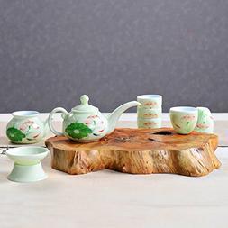 Dehua Porcelain- Celadon Ceramic Kung Fu Tea Set,Handmade Po