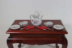 Ceramic Roses Mini Tea Set for American Girl Doll Food Acces