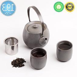 Ceramic Tea-Set For 2,Gift Box,TEANAGOO-Mimas,Tea-potInfuser