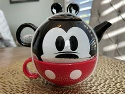 Disney Ceramic Stackable Mickey Mouse Tea Teapot - Pot & Mug