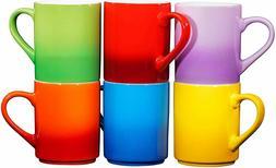 Bruntmor Ceramic Tea Coffee Cups Mugs Set of 6 Large sized M