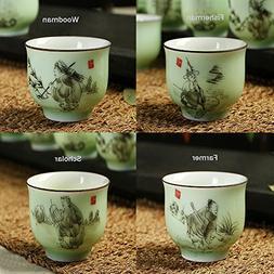XDOBO Ceramic Tea Set Chinese Traditional Kiln Ceramics Vint