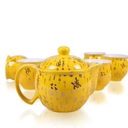 Ceramic Teasets 1 Teapot + 6pcs <font><b>Tea</b></font> Cup