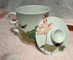 Teavana Ceramics Bird Tea Cup Mug with Infuser Lid Mug