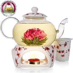 Teabloom Cherry Blossom Teapot & Flowering Tea Gift Set  - S