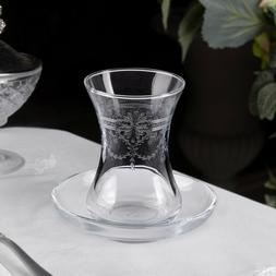 CHIC CRYSTAL SETS TURKISH TEA GLASS SERVING SET FOR 6 PEOPLE