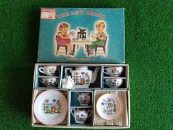 CHILD'S VINTAGE TEA SET, A SONSCO PRODUCT WITH BOX MADE IN J