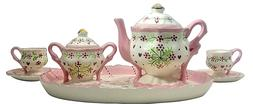 Children's Miniature Tea Set 9 Piece Porcelain Fine China Te