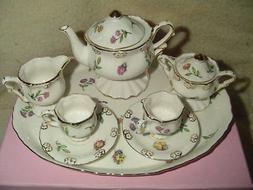 Children's Porcelain Mini Tea Set for 2-Olivia's Dragonflies