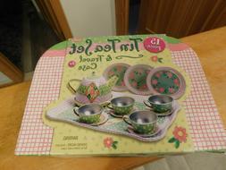 Schylling Children's TIN Tea Set 15 Pcs & Carry Case NEW Pic