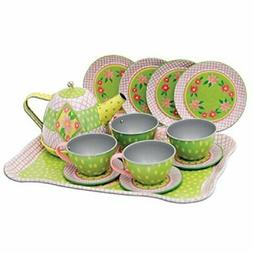 Schylling Children's Tin Tea Set in a Case