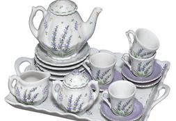 Childrens Tea Party Set for 4, Lavender Design