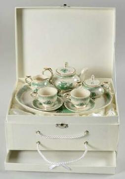 Gracie Bone China Green Gracie 10 Piece Child's Tea Set 9919