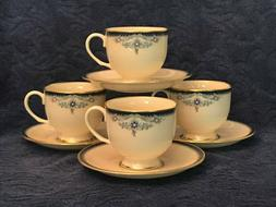 LENOX CHINA PRESIDENTIAL COLUMBIA FOOTED TEA CUP & AND SAUCE