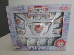 SCHYLLING CHINA TEA SET RAGGEDY ANN & ANDY 13 PCS TEA PARTY