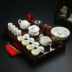 Chinese Ceramic Kung Fu Tea Set Teapot Infuser Tea Cup with