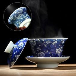 Chinese Jingdezhen porcelain gaiwan wintersweet floral print