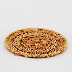 1pc Chinese Knot Handmade Tea Service Rattan Weaving Teapot