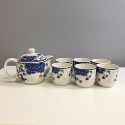 Chinese Porcelain Tea Set, 6 cups