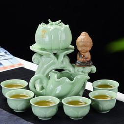 Chinese tea set longquan celadon porcelain tea pot automatic