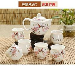 Chinese Tea Pot with Beautiful Design 15oz Tea Pot, the Cups