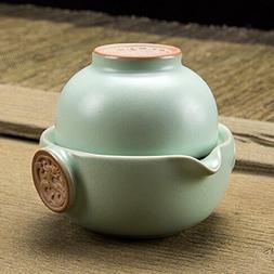 Chinese Ru Kiln Tea Set(1 Teapot&1 Teacup)