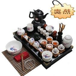 Chinese tea set porcelain teapot kettle teacup tea caddy cup