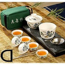 Emousport Chinese Travel Kung Fu Tea Set Ceramic Portable Te