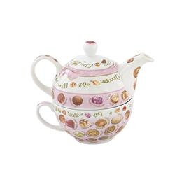 Cardew Design Chocolates Tea Set for One with 16-Ounce Pot a